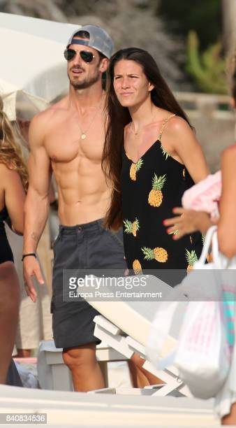 Aitor Ocio and Covadonga Riva are seen on July 21 2017 in Ibiza Spain