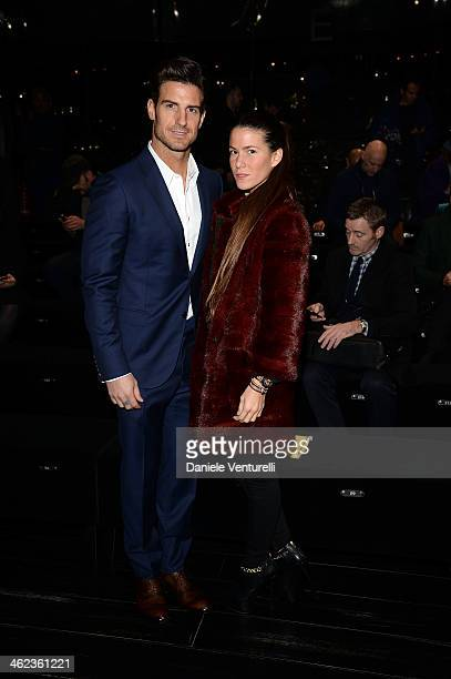 Aitor Ocio and Covi Riva attend the Gucci show as a part of Milan Fashion Week Menswear Autumn/Winter 2014 on January 13 2014 in Milan Italy