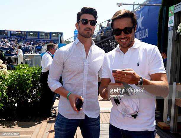 Aitor Ocio and Fernando Belasteguin attend day fifth of the ATP Barcelona Open Banc Sabadell at the Real Club de Tenis Barcelona on April 27 2018 in...