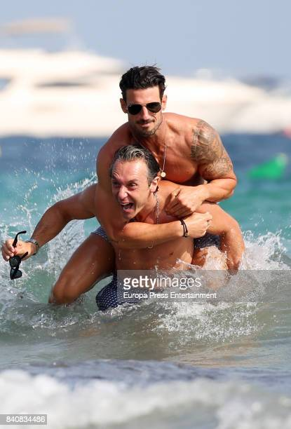 Aitor Ocio and Israel Bayon are seen on July 21 2017 in Ibiza Spain
