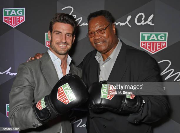 Aitor Ocio and Larry Holmes attend the launch of the TAG Heuer Muhammad Ali Limited Edition Timepieces at BXR Gym on October 10 2017 in London England