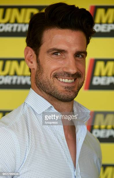 Aitor Ocio attends day fifth of the ATP Barcelona Open Banc Sabadell at the Real Club de Tenis Barcelona on April 27 2018 in Barcelona Spain