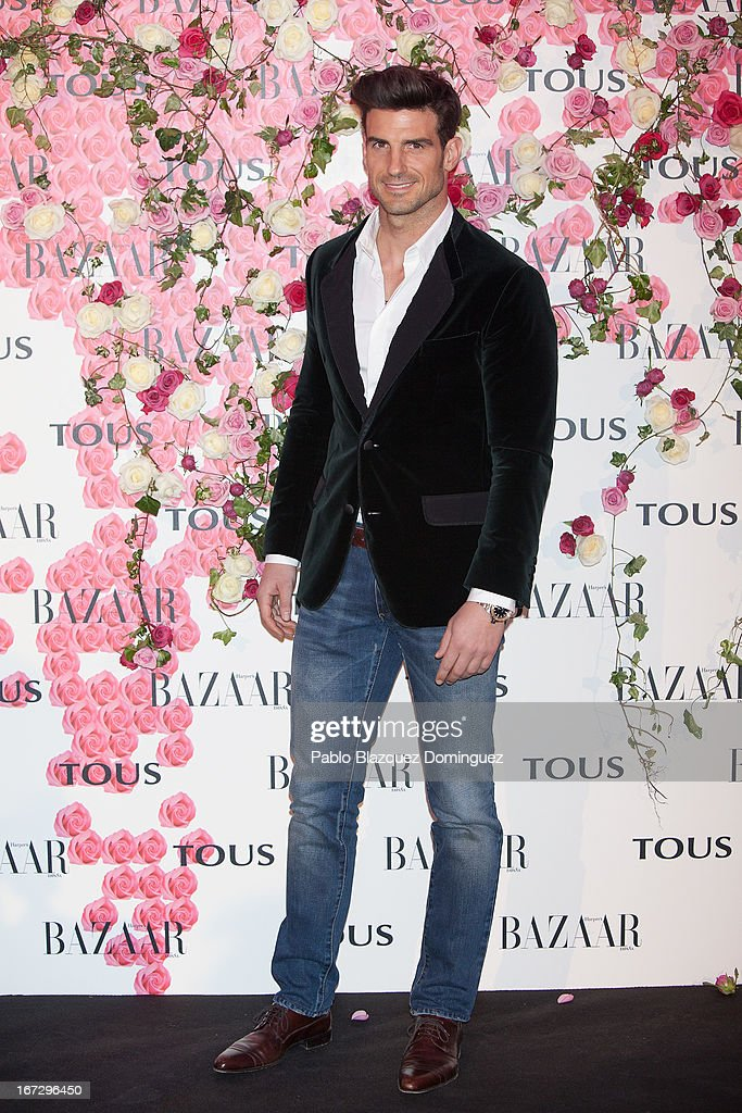 Aitor Ocio attends the presentation of the new fragrance 'Rosa' at Ritz Hotel on April 23, 2013 in Madrid, Spain.