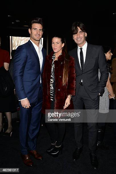 Aitor Ocio Covi Riva and Patrizio Di Marco attend the Gucci show as a part of Milan Fashion Week Menswear Autumn/Winter 2014 on January 13 2014 in...
