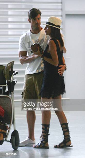 Aitor Ocio his girlfriend Barbara are seen on July 19 2012 in Ibiza Spain
