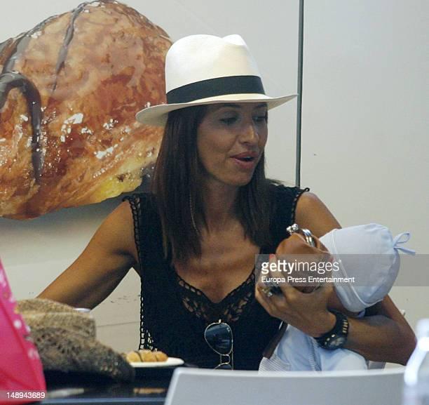 Aitor Ocio's girlfriend Barbara is seen on July 19 2012 in Ibiza Spain