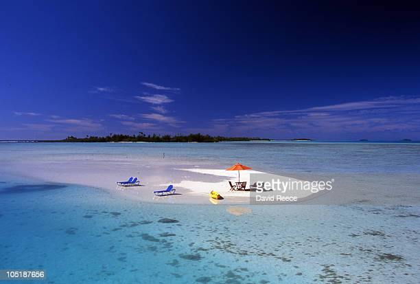 aitutaki lagoon - isole cook foto e immagini stock