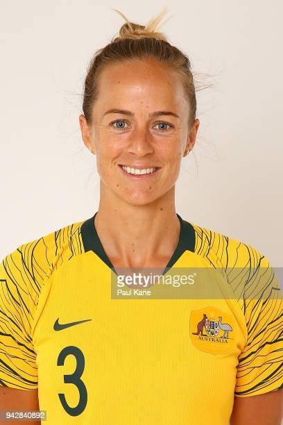 Aivi Luik poses during the Australian Matildas headshots session on March 24 2018 in Perth Australia