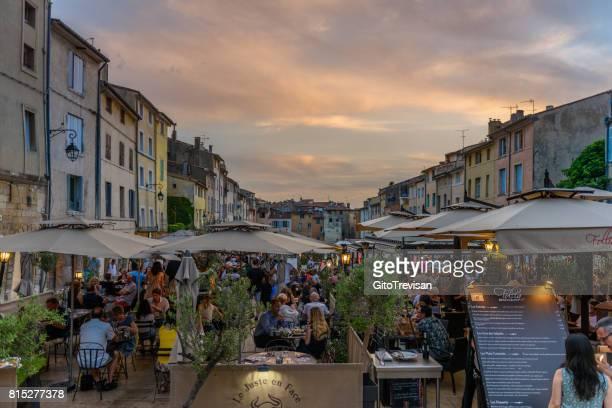 aix en provance,cardeurs square  at sunset - aix en provence stock pictures, royalty-free photos & images