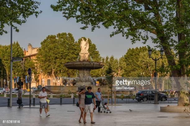 Aix en Provance,Square of the Fountain ,La Rotonde