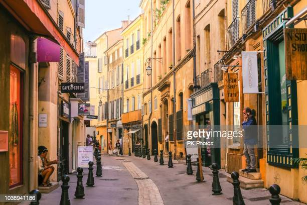 aix-en-provence city in france - aix en provence stock pictures, royalty-free photos & images