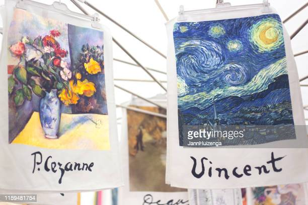 aix-en-provence, france: cezanne and van gogh towels for sale - vincent van gogh stock pictures, royalty-free photos & images