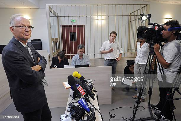 Aix-en-Provence's prosecutor Denis Vanbremeersch gives a press conference focused on the death of 61 year old Jacques Blondel, on August 24, 2013 in...