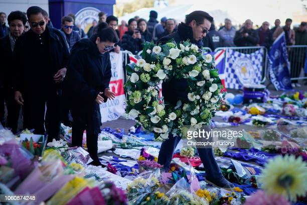 Aiyawatt Srivaddhanaprabha and Aimon Srivaddhanaprabha the son and wife of Leicester City owner Vichai Srivaddhanaprabha who died in a helicopter...