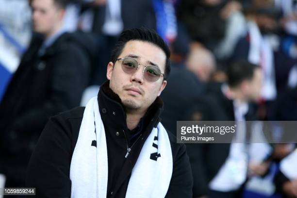 Aiyawatt Srivaddhanaprabha of Leicester City during the special video played in honour of his father Leicester City's late Chairman Vichai...