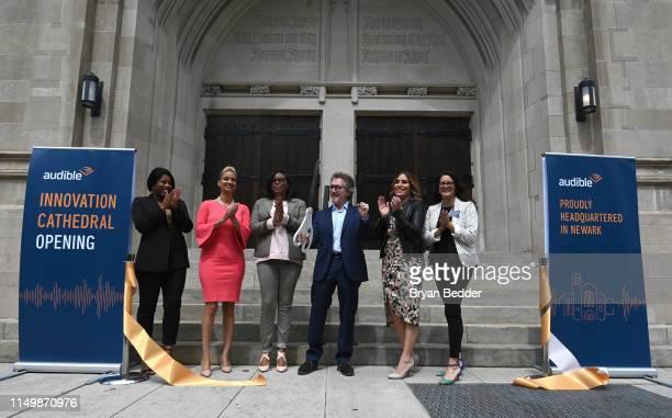 Aiyonnah Post Aisha Glover of Newark Alliance Councilwoman LaMonica McIver Audible Founder CEO Don Katz Senator Teresa Ruiz and Assemblywoman Eliana...