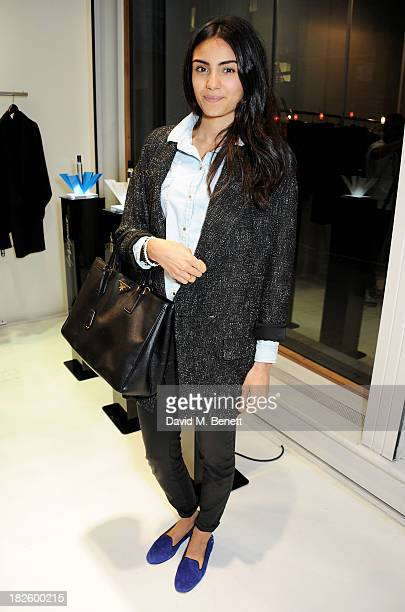 Aiysha Hart attends the launch of the new Yohji Yamamoto parfums at the Yohji Yamamoto Conduit Street store on October 1 2013 in London England