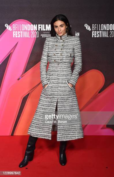 """Aiysha Hart attends the Premiere of """"Mogul Mowgli"""" during the 64th BFI London Film Festival at BFI Southbank on October 10, 2020 in London, England."""