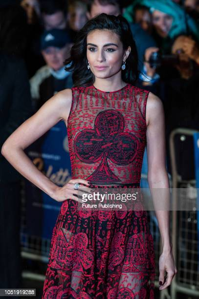 Aiysha Hart attends the UK film premiere of 'Colette' at Cineworld Leicester Square during the 62nd London Film Festival BFI Patrons Gala October 11...