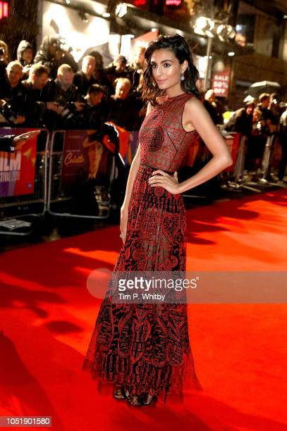 Aiysha Hart attends the UK Premiere of 'Colette' and BFI Patrons gala during the 62nd BFI London Film Festival on October 11 2018 in London England