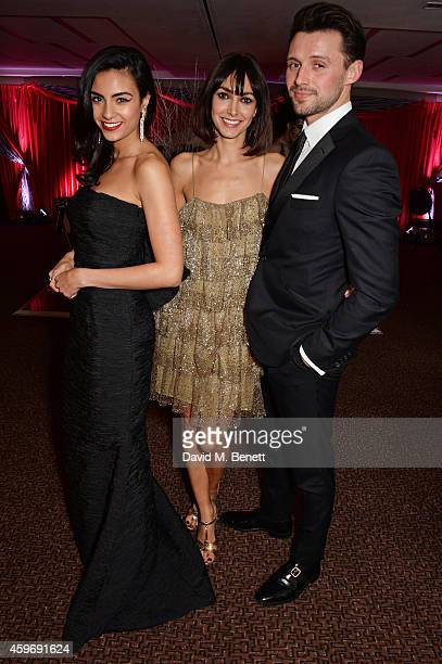 Aiysha Hart Chantal Brown and Oliver Walker attend 'The Odd Ball' 'hosted by The Murray Parish Trust at The Royal Garden Hotel on November 28 2014 in...