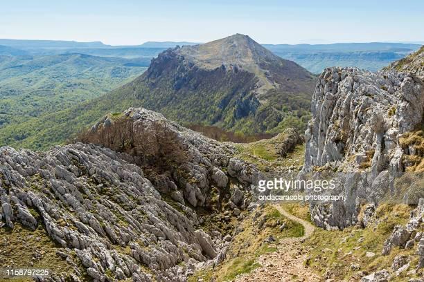 aizkorri mountain in gipuzkoa, spain - ギプスコア ストックフォトと画像
