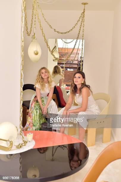 Aj Michalka and Aly Michalka attend FENDI x Flaunt Celebrate The New Fantasy Issue at Casa Perfect on March 21 2018 in Beverly Hills California