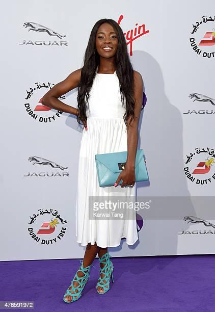 Aj Odudu attends the WTA PreWimbledon Party at Kensington Roof Gardens on June 25 2015 in London England