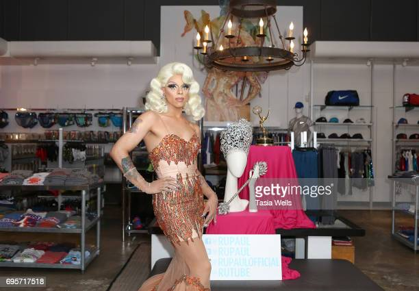 Aja attends 'RuPaul's Drag Race' FYC Costume Exhibit at LASC on June 12 2017 in West Hollywood California