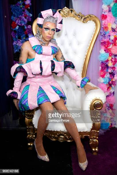 Aja attends the 4th Annual RuPaul's DragCon at Los Angeles Convention Center on May 13 2018 in Los Angeles California
