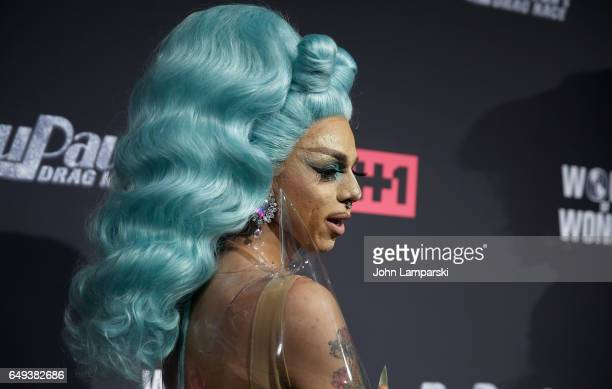 Aja attendsRuPaul's Drag Race season 9 premiere party meet The Queens Event at PlayStation Theater on March 7 2017 in New York City