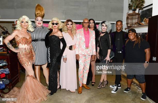 Aja Eureka O'Hara Valentina Mariah Balenciaga RuPaul Raven Morgan McMichaels Tyra Sanchez and Jaidynn Diore Fierce attend FYC Costume Exhibit Launch...