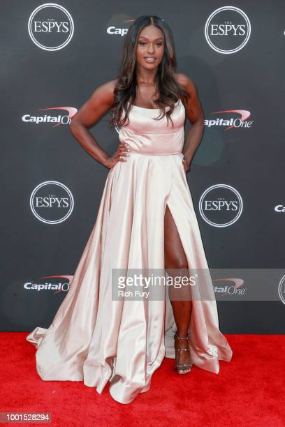 Aja Evans attends the 2018 ESPYS at Microsoft Theater on July 18 2018 in Los Angeles California