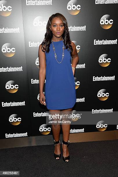 Aja King attends the Entertainment Weekly ABC Upfronts Party at Toro on May 13 2014 in New York City