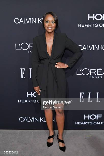 Aja Naomi King attends ELLE's 25th Annual Women In Hollywood Celebration presented by L'Oreal Paris Hearts On Fire and CALVIN KLEIN at Four Seasons...