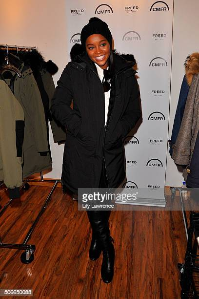Aja Naomi King attends Kari Feinstein's Style Lounge on January 24 2016 in Park City Utah