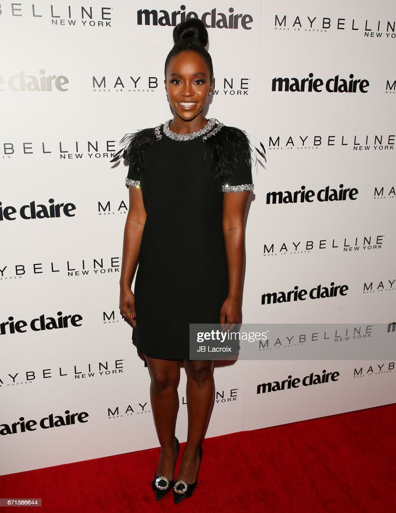 Aja Naomi King attends Marie Claire's 'Fresh Faces' celebration with an event sponsored by Maybelline at Doheny Room on April 21, 2017 in West Hollywood, California.