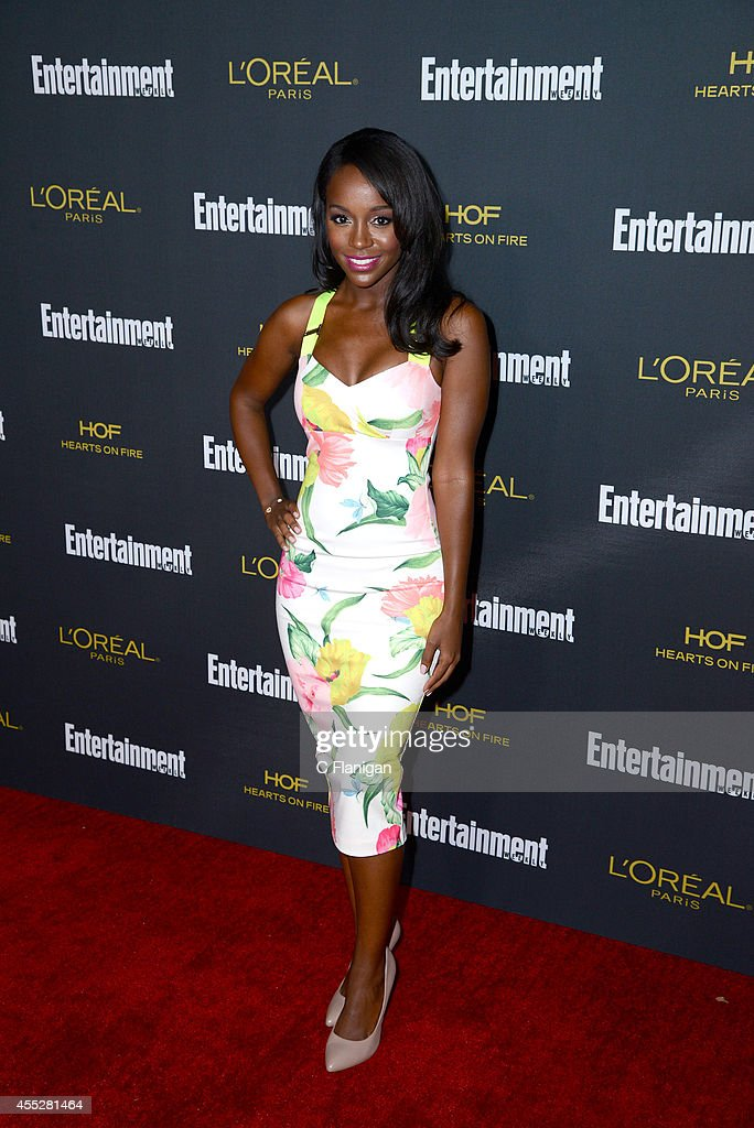 Aja Naomi King attends the 2014 Entertainment Weekly Pre-Emmy Party at Fig & Olive Melrose Place on August 23, 2014 in West Hollywood, California.