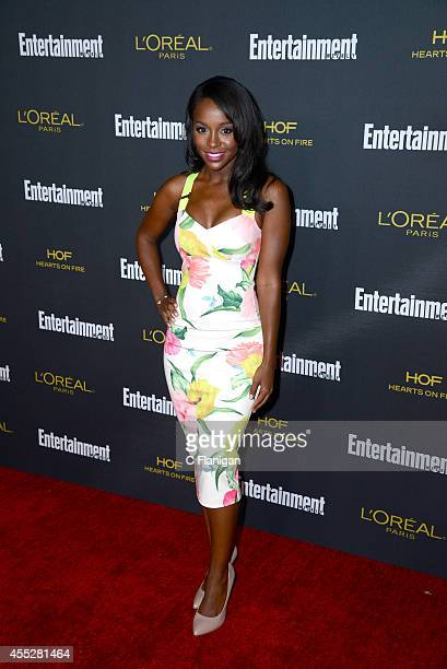 Aja Naomi King attends the 2014 Entertainment Weekly PreEmmy Party at Fig Olive Melrose Place on August 23 2014 in West Hollywood California