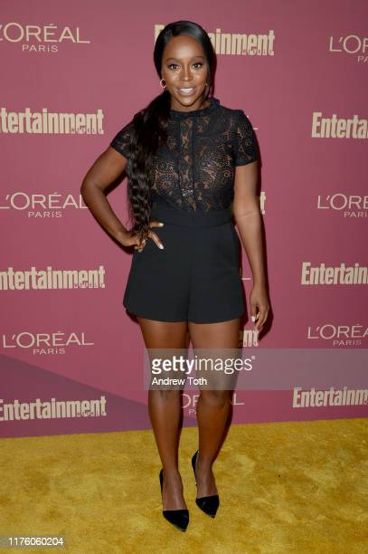 Aja Naomi King attends the 2019 PreEmmy Party hosted by Entertainment Weekly and L'Oreal Paris at Sunset Tower Hotel in Los Angeles on Friday...