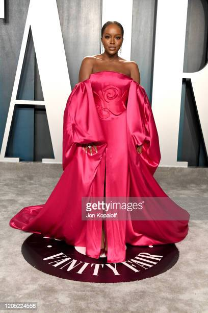 Aja Naomi King attends the 2020 Vanity Fair Oscar Party hosted by Radhika Jones at Wallis Annenberg Center for the Performing Arts on February 09...
