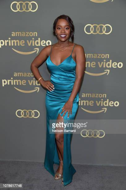 Aja Naomi King attends the Amazon Prime Video's Golden Globe Awards After Party at The Beverly Hilton Hotel on January 6 2019 in Beverly Hills...