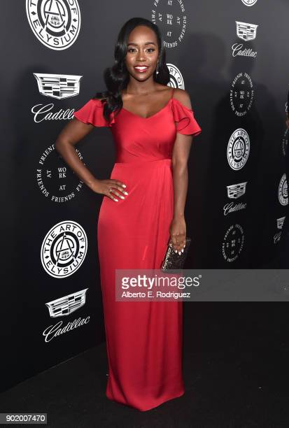 Aja Naomi King attends The Art Of Elysium's 11th Annual Celebration on January 6 2018 in Santa Monica California
