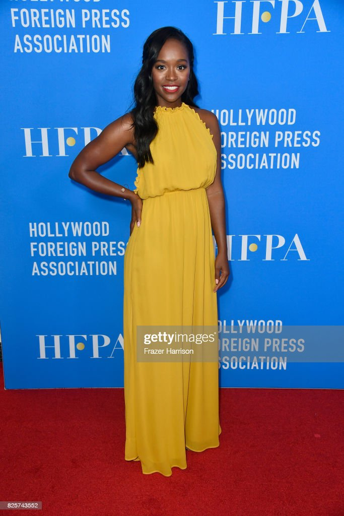 Aja Naomi King attends the Hollywood Foreign Press Association's Grants Banquet at the Beverly Wilshire Four Seasons Hotel on August 2, 2017 in Beverly Hills, California.