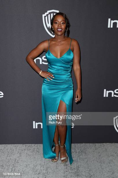 Aja Naomi King attends the InStyle And Warner Bros Golden Globes After Party 2019 at The Beverly Hilton Hotel on January 6 2019 in Beverly Hills...