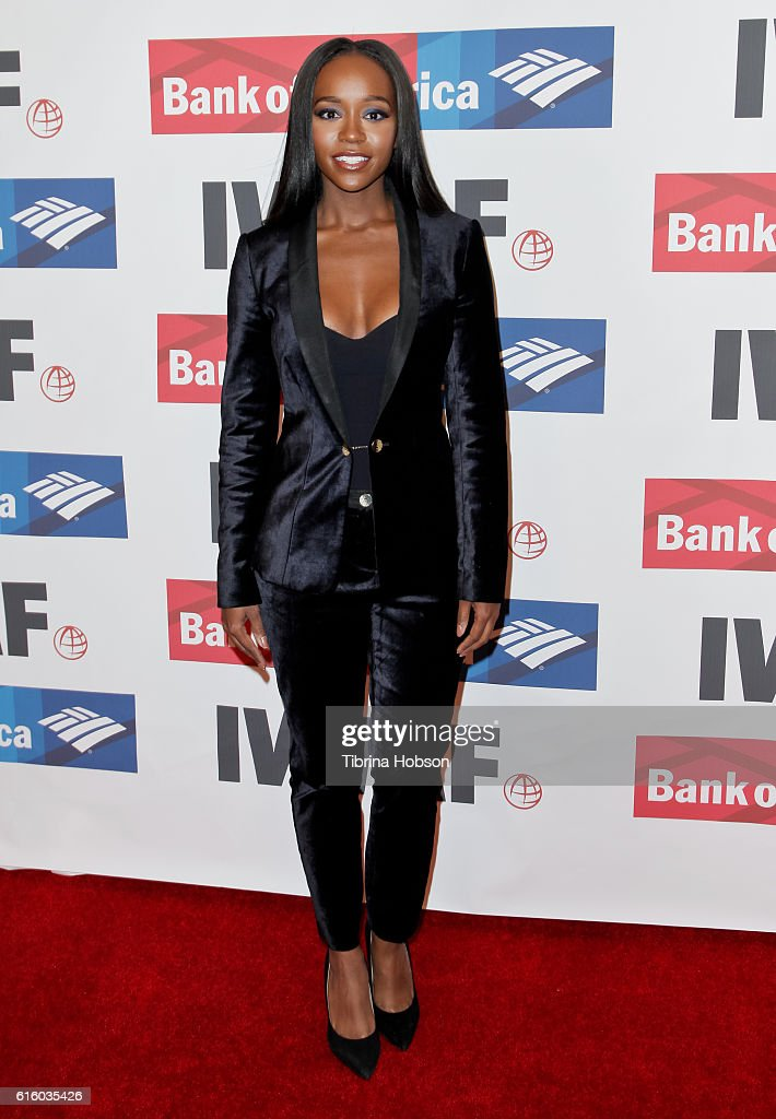 Aja Naomi King attends the International Women's Media Foundation 27th annual Courage In Journalism Awards at the Beverly Wilshire Four Seasons Hotel on October 20, 2016 in Beverly Hills, California.