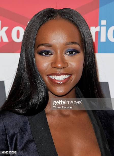 Aja Naomi King attends the International Women's Media Foundation 27th annual Courage In Journalism Awards at the Beverly Wilshire Four Seasons Hotel...