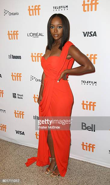 Aja Naomi King attends the 'The Birth of a Nation' Red Carpet Premiere during the 2016 Toronto International Film Festival premiere at Princess of...