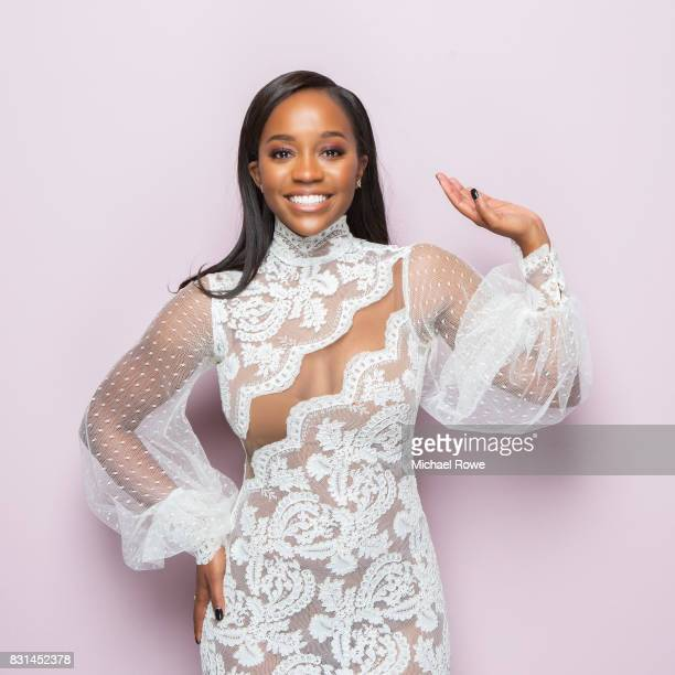 Aja Naomi King is photographed for Essencecom on February 24 2017 in Los Angeles California