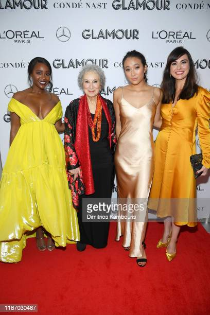 Aja Naomi King Margaret Atwood Nadya Okamoto and Monica Gray attend the 2019 Glamour Women Of The Year Awards at Alice Tully Hall on November 11 2019...